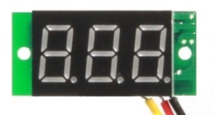 Voltmeter with digital readout, Red or Blue